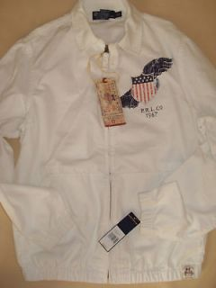 Ralph Lauren American Flag Men Golf/Jacket Size S New With Tags