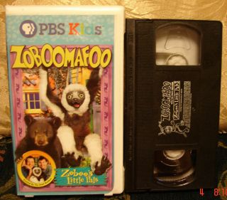PBS KIDS ZOBOOMAFOO Zoboos Little Pals Vhs Video RARE CLAMSHELL FREE