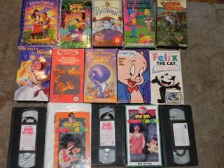 VHS LOT CHILDREN BIG COMFY COUCH TIME LIFE FELIX WARNER BROS PORKY PIG