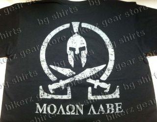 MOLON LABE SPARTAN COME & TAKE EM T shirt BLACK SPEC OPS Pro Gun 2X
