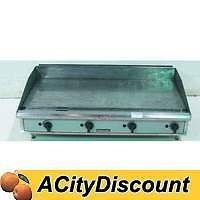 USED TOASTMASTER TGM48 48 STAINLESS NATURAL GAS COMMERCIAL FLAT TOP