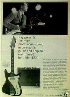 1966 Kay Vanguard Electric Guitars/ Amplifiers Music AD