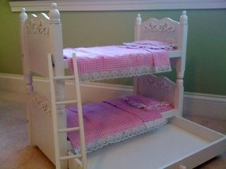 NEW Doll Bunk Beds, Trundle and Linens For American Girl