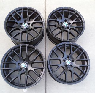 19 BMW ZCP CSL M Competition Matte Black Alloy Wheels Rims Staggered