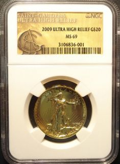 2009 $20.00, Twenty Dollar Ultra High Relief Double Eagle Gold Coin