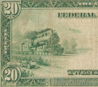 20 DOLLAR BILL FEDERAL RESERVE NOTE SAN FRANCISCO Fr 1011A PCGS VF