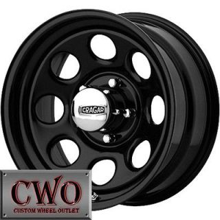 15 Black Cragar Soft 8 Wheels Rims 5x114.3 5 Lug Jeep Wrangler Ranger