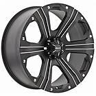 20 inch Ballistic Outlaw black wheels rims 5x150 +30 Toyota Tundra