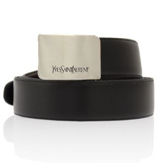 Yves Saint Laurent Mens Leather Belt BLACK *CUT to FIT *Free P&P World
