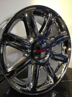 20 Inch Chrome GMC Yukon Denali OE/Factory Wheels/Rims, 6x5.5, 6x139.7