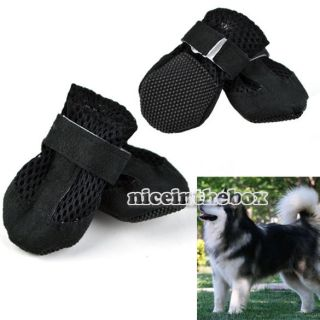 Hot Sale Booties Shoes Pet Dog Air Holes Suede Black Synthetic Boot 4