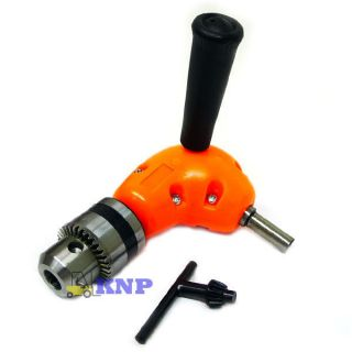 90 Degree Right Angle Drill Adaptor Attachment Metal Gear Fits