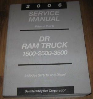 2006 06 Dodge 1500 2500 3500 Series DR Ram Truck Service Repair Manual