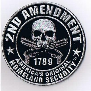 Americas Original Homeland Security. Pro Gun Biker Patch ppa5950
