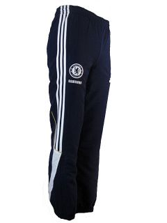 Chelsea FC Adidas Junior Woven Presentation Tracksuit Bottoms