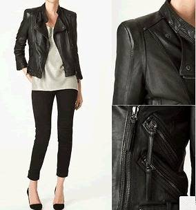 Faux Leather Motorcycle Jacket in Coats & Jackets