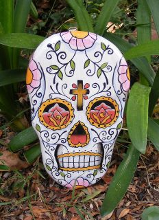 Skull Mask Plaque Dia de Los muertos Cantina Bar Decor,Day of the Dead