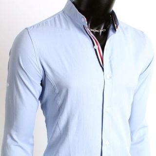 mens collarless shirts in Casual Shirts