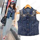 sleeveless denim jacket in Womens Clothing