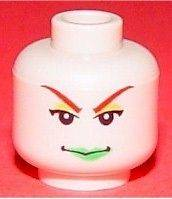 BATMAN   Minifig, Head Female with Green Lips (Poison Ivy)   Flesh