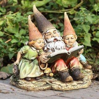 Storyteller Garden Gnome Children Outdoor Statue Decor