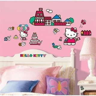 WORLD of HELLO KITTY wall stickers 32 decals Sanrio room decor