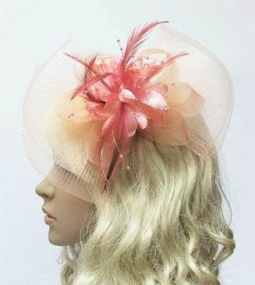 Hair Accessories Moonstone Fascinator Hat Bow Shape Party Hair Clip
