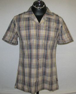Mens Harley Davidson Slim Fit Plaid Garage Shirt, 100% Cotton, 96641