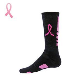 Socks   Breast Cancer Awareness   Elite Pink Ribbon Crew Socks (Pair