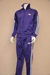 Adi Firebird Mens Track Suit College Purple / White Stripes M