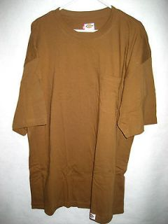 Mens Dickies Short Sleeve Camel Pocket T Shirt   Size 2XL   NWOT