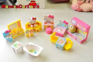 Hello Kitty Girl Pretend Play Mini House Furnitures Toy Set Life House