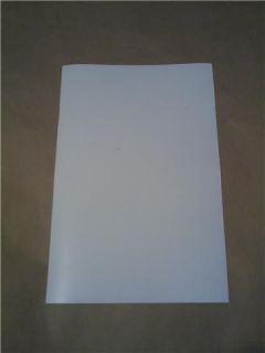 Matte White Vinyl 12 Wide Roll Sheet Series 5 Adhesive