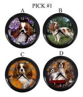 King Charles Spaniel Dog Puppy Puppies A D Wall Clock Gift #PICK 1