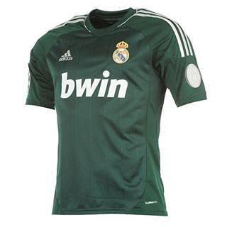 Mens Real Madrid Away Third Jersey Shirt 2012 2013   Ivy   S M L XL