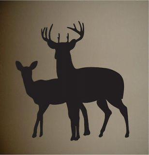 Deer Silhouette Buck Hunting Wall Decal Home Decor