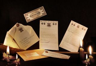 Harry Potter Hogwarts acceptance letter Beautiful Quality + Free