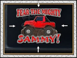 SUZUKI SAMURAI LIFTED 4X4 FEAR THE MIGHTY SAMMY VINYL DECAL GRAPHIC