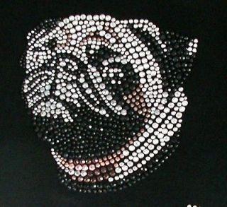 Rhinestone Embellished Tee Shirts   PUG Dog Design