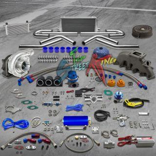 CAST IRON MANIFOLD T3/T4 TURBO KIT 92 05 VW GOLF JETTA PASSAT 24 PC
