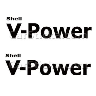 of 8 Shell V Power aftermarket performance car window vinyl sticker