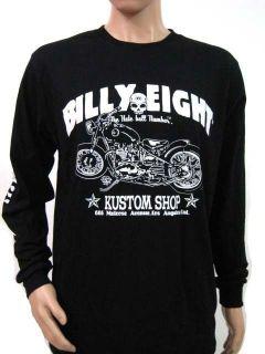 BILLY EIGHT LONG SLEEVE SHIRT HOT ROD THREE WHEELS MOTORCYCLE CUSTOM