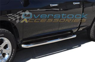 2009 2012 Dodge Ram Crew Cab 3 inch Stainless Steel Side Step Nerf Bar