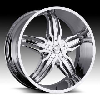 28 inch Milanni Phoenix Chrome Wheels Rims 6x135 +30