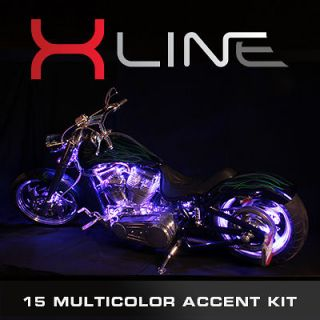 15 COLOR SMD LED ACCENT LIGHTS HARLEY DAVIDSON MOTORCYCLE LIGHT KIT