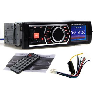 AUX Receiver +Remote In Dash Car Stereo Radio Player For iPod iPhone