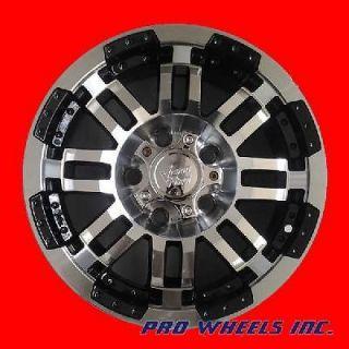375 WARRIOR 15 M/BLK 8 DOUBLE SPOKE AFTERMARKET WHEEL RIM SET 015755