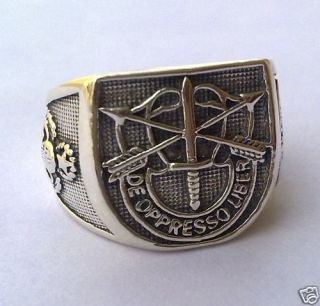 SILVER 925 Old SPECIAL FORCES AIRBORNE MILITARY RING