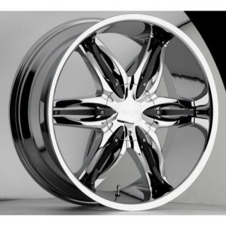 28 inch Viscera 778 chrome wheels rims 6x5.5 6x139.7 +35
