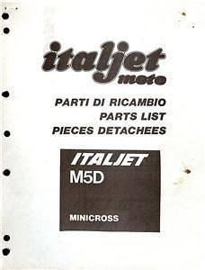 1982 84 Italjet M5D 50cc mini bike parts book COPY